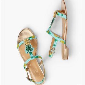 Pineapple sandals Talbots
